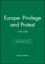 Europe: Privilege and Protest: 1730-1789, 2nd Edition (0631215131) cover image
