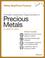 Portfolio Investment Opportunities in Precious Metals (1118503031) cover image