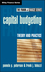 Capital Budgeting: Theory and Practice (0471218332) cover image