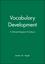 Vocabulary Development: A Morphological Analysis (0631224432) cover image