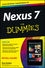 Nexus 7 For Dummies (Google Tablet) (1118508734) cover image