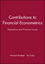 Contributions to Financial Econometrics: Theoretical and Practical Issues (140510743X) cover image