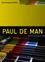 Paul de Man (0745631843) cover image