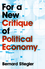 For a New Critique of Political Economy (0745648045) cover image