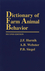 Dictionary of Farm Animal Behavior, 2nd Edition (0813824648) cover image
