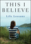 This I Believe: Life Lessons (1118074548) cover image