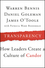 Transparency: How Leaders Create a Culture of Candor (1118771648) cover image