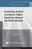 Evaluating Student Learning in Higher Education: Beyond the Public Rhetoric: New Directions for Evaluation, Number 151 (1119316448) cover image