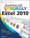 Teach Yourself VISUALLY Excel 2010 (0470577649) cover image