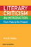 Literary Criticism from Plato to the Present: An Introduction (1405160349) cover image