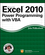 Excel 2010 Power Programming with VBA (0470475358) cover image
