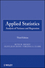 Applied Statistics: Analysis of Variance and Regression, 3rd Edition (047057125X) cover image