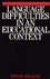 Language Difficulties in an Educational Context (1861561563) cover image