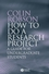 How to do a Research Project - A Guide for  Undergraduate Students (EHEP001463) cover image
