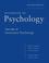 Handbook of Psychology, Volume 10, Assessment Psychology, 2nd Edition (0470891270) cover image