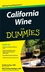 California Wine For Dummies (0470376074) cover image