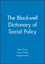 The Blackwell Dictionary of Social Policy (0631218475) cover image