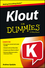 Klout For Dummies (1118505379) cover image