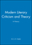 Modern Literary Criticism and Theory: A History (1405176679) cover image