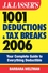 J.K. Lasser's 1001 Deductions and Tax Breaks 2006: The Complete Guide to Everything Deductible (0471784281) cover image