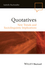 Quotatives: New Trends and Sociolinguistic Implications (0470657189) cover image