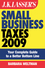 JK Lasser's Small Business Taxes 2009: Your Complete Guide to a Better Bottom Line (0470439394) cover image