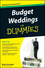 Budget Weddings For Dummies (0470502096) cover image