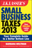 J.K. Lasser's Small Business Taxes 2013: Your Complete Guide to a Better Bottom Line (1118346696) cover image