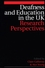 Deafness and Education in the UK: Research Perspectives (1861563698) cover image
