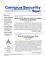 Campus Security Report (CASR) cover image