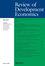 Review of Development Economics (RODE) cover image