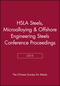 HSLA Steels 2015, Microalloying 2015 & Offshore Engineering Steels 2015 Conference Proceedings (111922330X) cover image