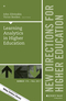 Learning Analytics in Higher Education: New Directions for Higher Education, Number 179 (1119443822) cover image