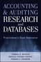 Accounting and Auditing Research and Databases: Practitioner's Desk Reference (1118334426) cover image