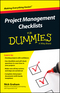 Project Management Checklists For Dummies (1118931432) cover image