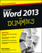 Word 2013 For Dummies (1118491238) cover image