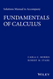 Solutions Manual to Accompany Fundamentals of Calculus (1119015340) cover image