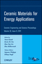 Ceramic Materials for Energy Applications, Volume 32, Issue 9 (1118059948) cover image