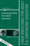 Learning Cities for Adult Learners: New Directions for Adult and Continuing Education, Number 145 (1119075270) cover image