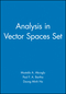 Analysis in Vector Spaces Set (0470486775) cover image