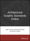 Architectural Graphic Standards Online 1 Year Subscription Access Card (1119262577) cover image