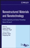 Nanostructured Materials and Nanotechnology: Ceramic Engineering and Science Proceedings, Volume 28, Issue 6 (0470196378) cover image