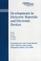 Developments in Dielectric Materials and Electronic Devices: Proceedings of the 106th Annual Meeting of The American Ceramic Society, Indianapolis, Indiana, USA 2004 (1574981889) cover image