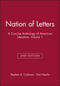 Nation of Letters: A Concise Anthology of American Literature, Volume 1, 2nd Edition (193338509X) cover image