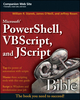 Microsoft PowerShell, VBScript and JScript Bible (0470386800) cover image