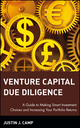 Venture Capital Due Diligence: A Guide to Making Smart Investment Choices and Increasing Your Portfolio Returns (0471126500) cover image