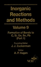 Inorganic Reactions and Methods, Volume 9, The Formation of Bonds to C, Si, Ge, Sn, Pb (Part 1) (0471186600) cover image