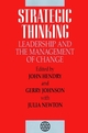 Strategic Thinking: Leadership and the Management of Change (0471939900) cover image