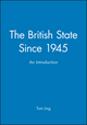 The British State Since 1945: An Introduction (0745611400) cover image