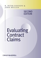 Evaluating Contract Claims, 2nd Edition (1405159200) cover image